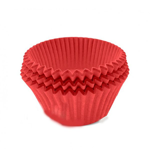 Forminha N02 Mini Cupcake C/54 unid Vermelho Ultrafest