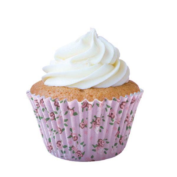 Forminha para Cupcake Flores Rosa 45 unid. Mago