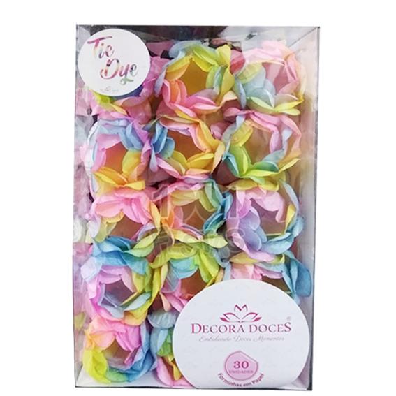 Forminha Princesa c/30 unid Tie Dye Candy Decora Doces