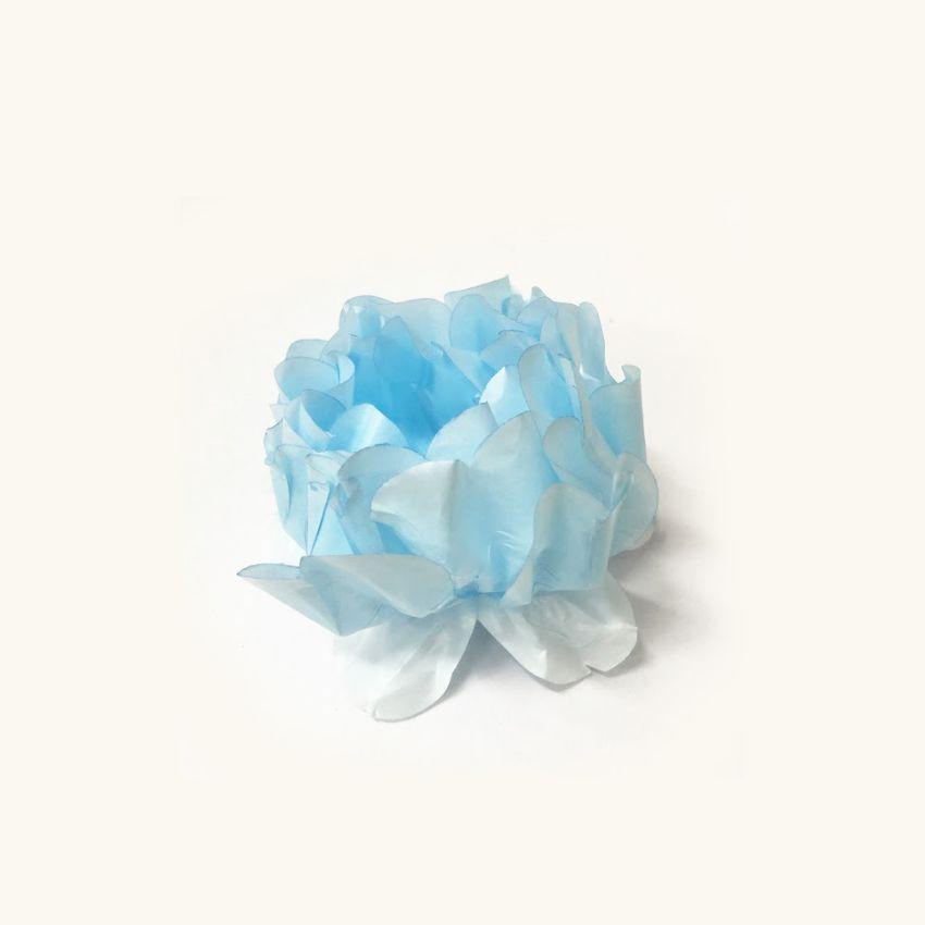 Forminha Rosa Maior Azul Bebe/Azul Bebe c/30 Decora Doces