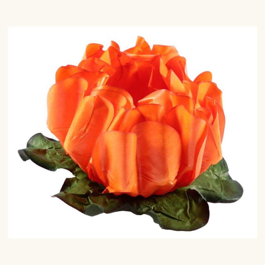 Forminha Rosa Maior Laranja c/30 Decora Doces