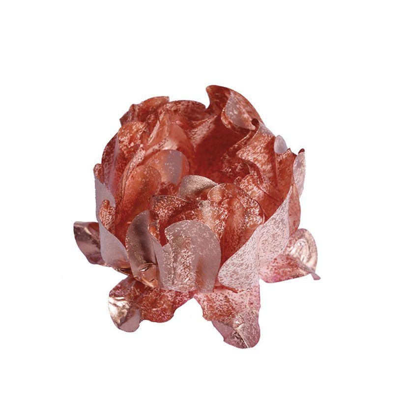 Forminha Rosa Maior Rose Gold/Rose Gold c/30 Decora Doces
