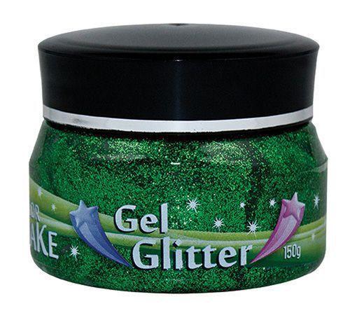 Gel Glitter Verde 150g Colormake