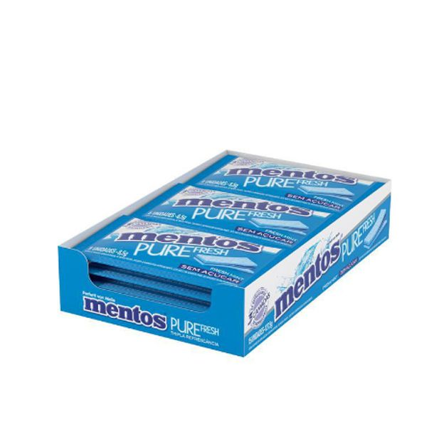 Goma de Mascar Mentos Pure Fresh Mint 3 Camadas 15 unid