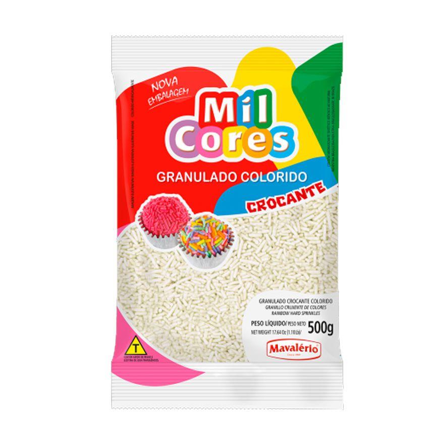 Granulado Crocante Branco 500g Mil Cores