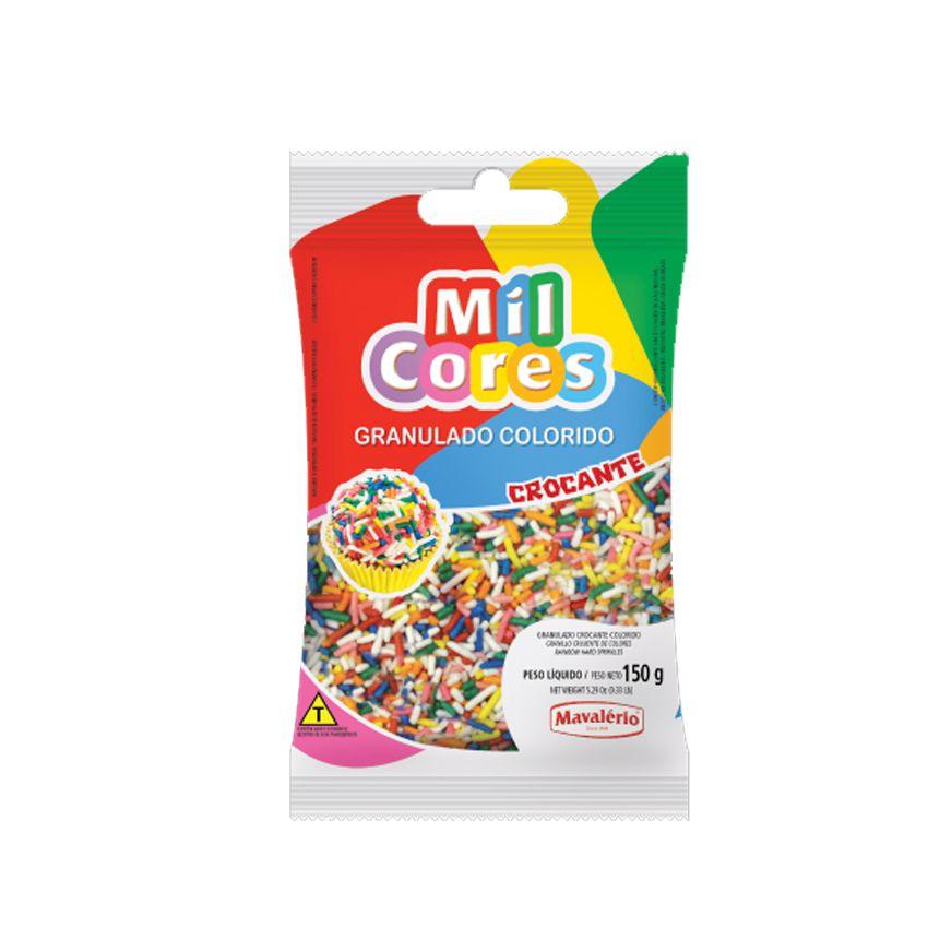 Granulado Crocante Colorido 150g Mil Cores