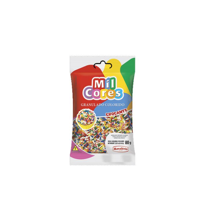 Granulado Crocante Colorido 80g Mil Cores