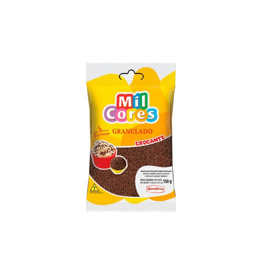Granulado Crocante Sabor Chocolate 150g Mil Cores