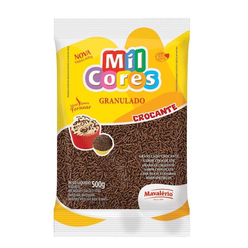 Granulado Crocante Sabor Chocolate 500g Mil Cores