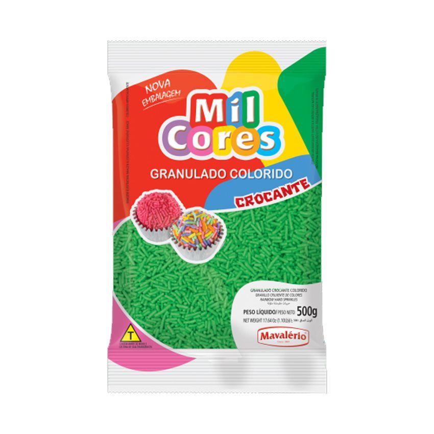 Granulado Crocante Verde 500g Mil Cores