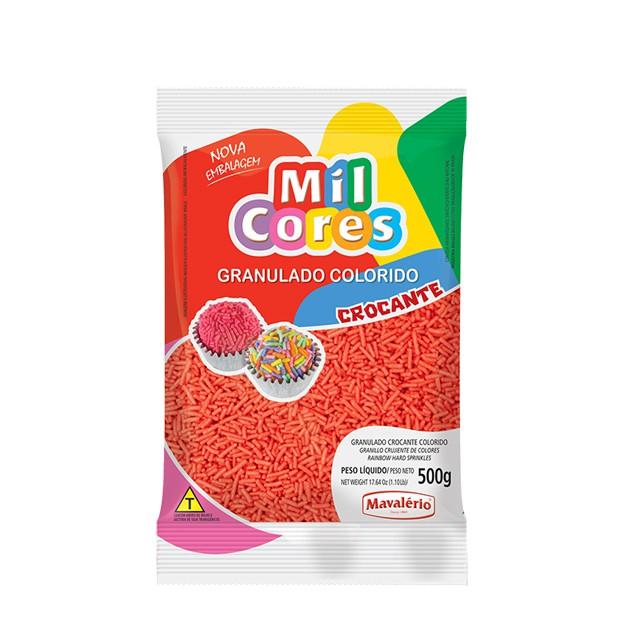 Granulado Crocante Vermelho 500g Mil Cores