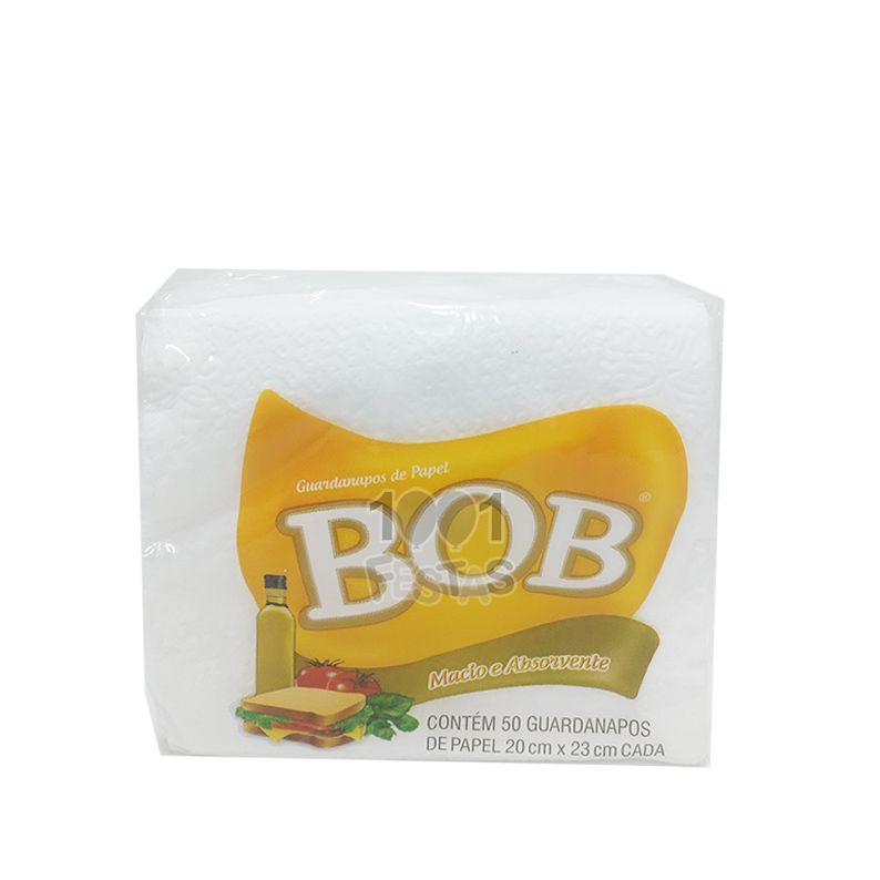 Guardanapo 20cm x 23cm 50 unid Branco Bob