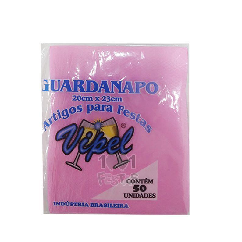 Guardanapo 20cm x 23cm 50 unid Rosa Claro Vipel