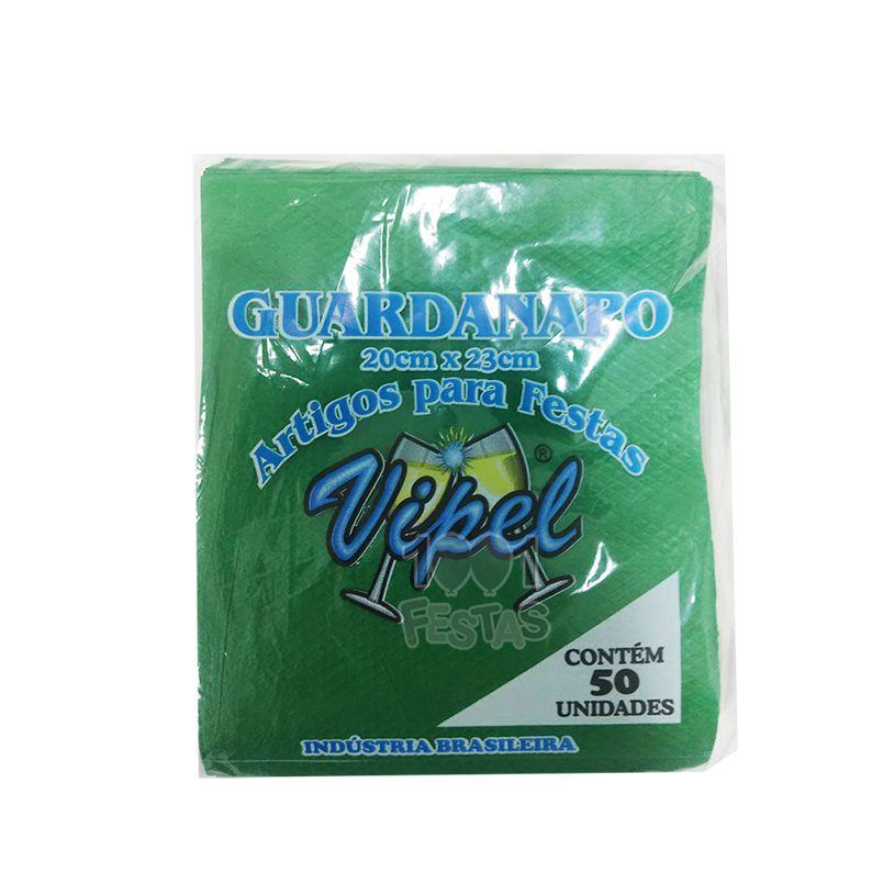 Guardanapo 20cm x 23cm 50 unid Verde Bandeira Vipel