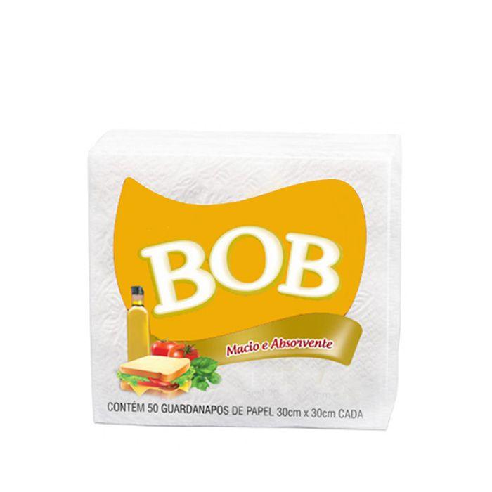 Guardanapo 30cm x 30cm 50 unid Branco Bob