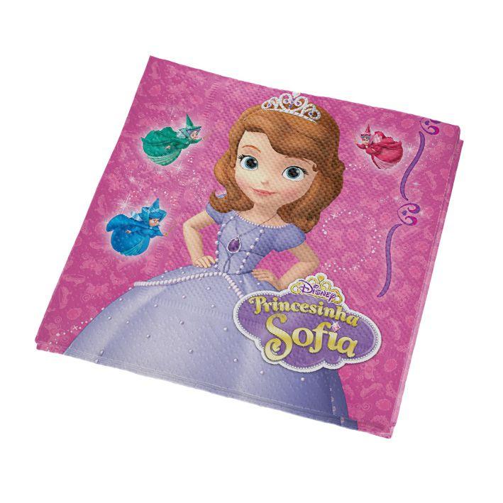 Guardanapo Princesinha Sofia 25cm x 25cm C 16 unid Regina