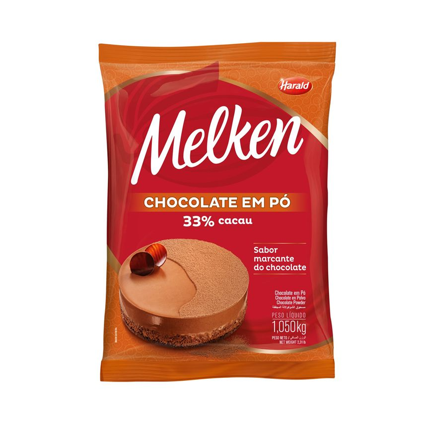 Harald Melken Chocolate em Pó 33% Cacau 1,05kg