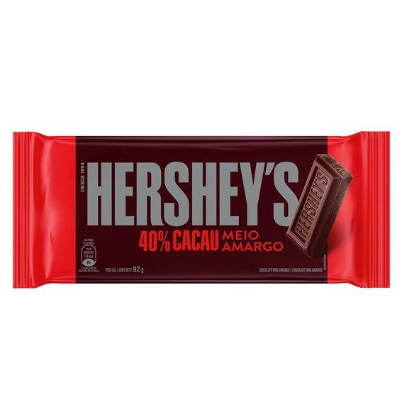 Hershey's Chocolate Meio Amargo 40% Cacau 92g