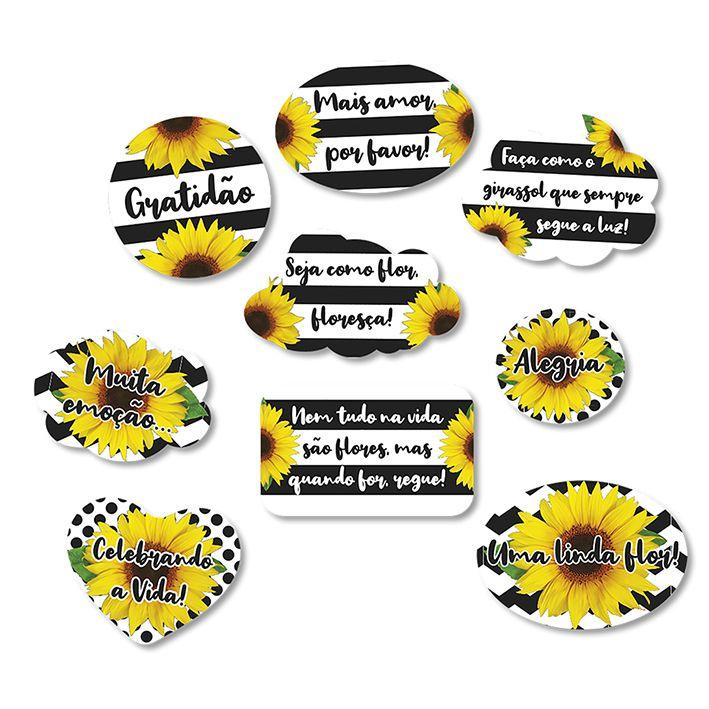 Kit Placas Girassol C 09 unid Festcolor