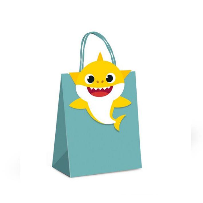 Kit Sacola de Papel Baby Shark C 10 unid Cromus
