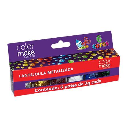 Lantejoula Metalizada C 06 Cores Colormake