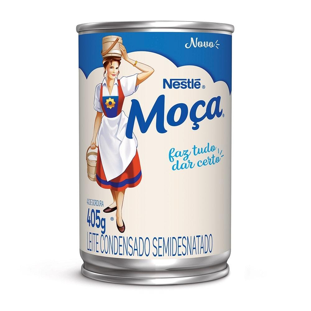 Leite Condensado Semidesnatado Moça Nestlé 405g