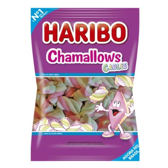 Marshmallow 250g Cables Twist Color Haribo