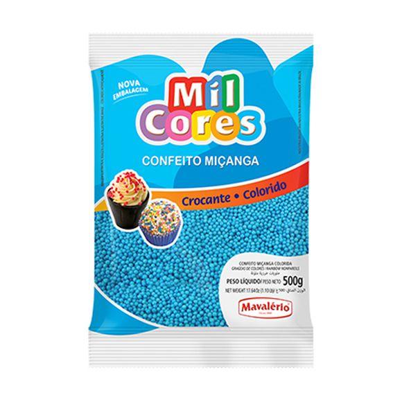 Confeito Miçanga N.0 500g Azul Mil Cores