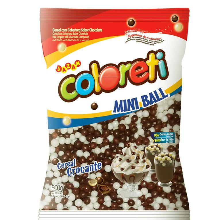 Mini Ball Coloreti Jazam Ao Leite e Branco 500g