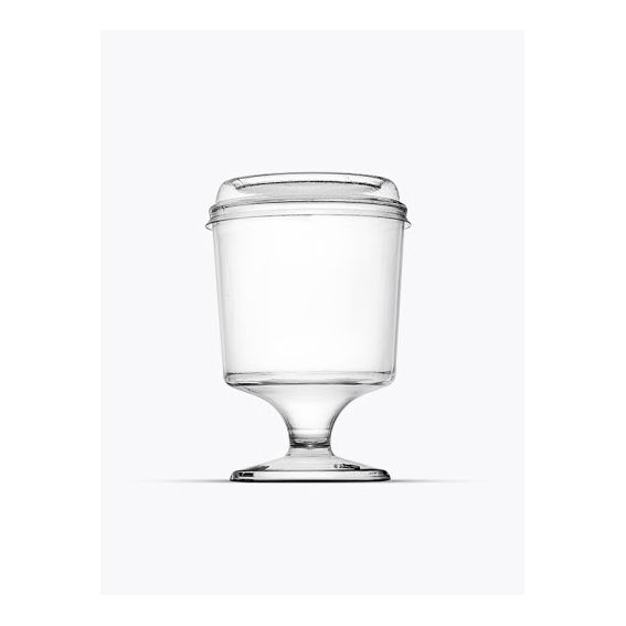 Mini Taça para Doces com Tampa Cristal 30 ml 10 unid Plastilânia