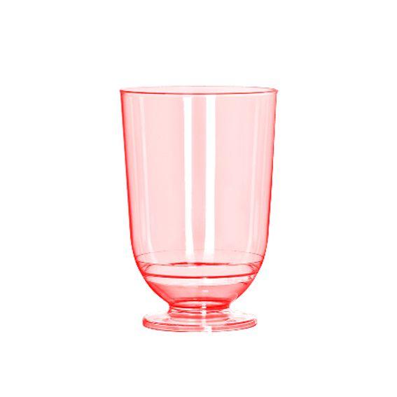 Mini Taça para Doces Vermelho Neon 50 ml 10 unid Strawplast