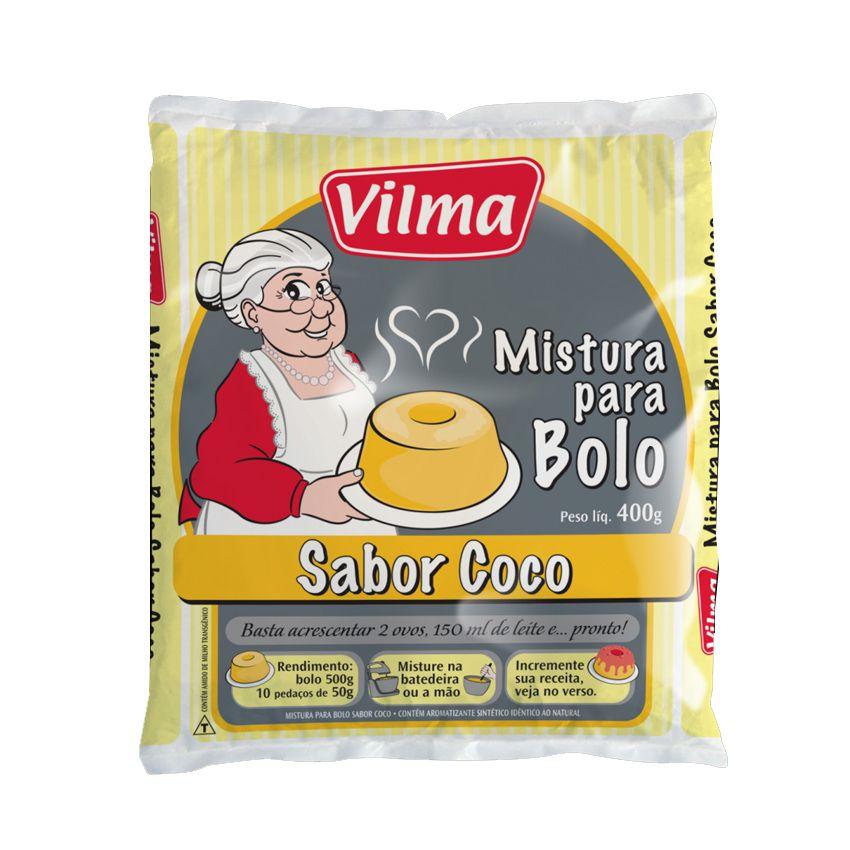 Mistura Bolo Coco 400g  Vilma