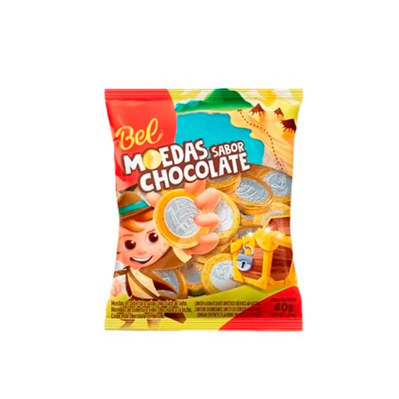 Moedas de Chocolate 40g Bel