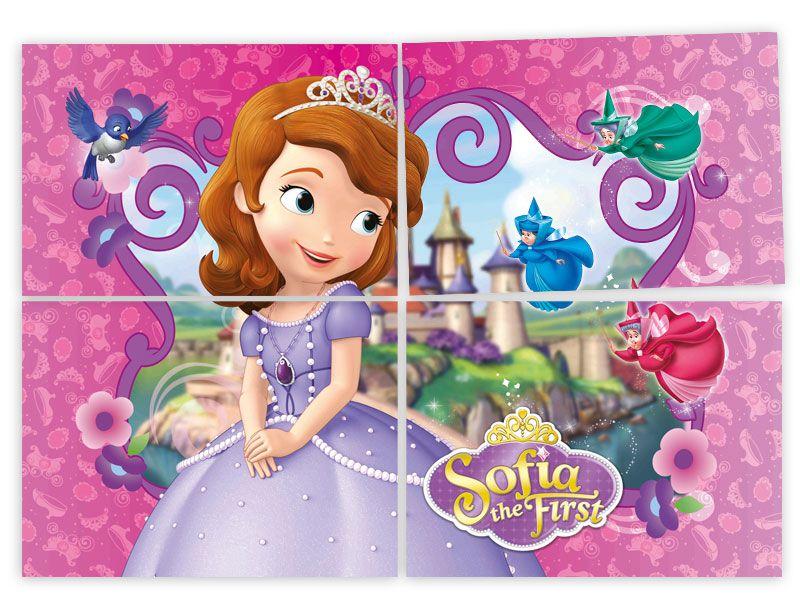 Painel 4 Lâminas Princesinha Sofia Regina