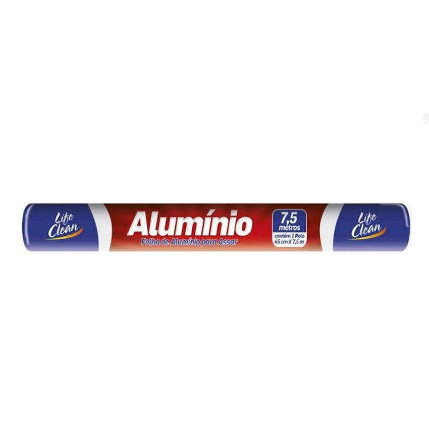 Papel Alumínio 45cmx7,5m Life Clean
