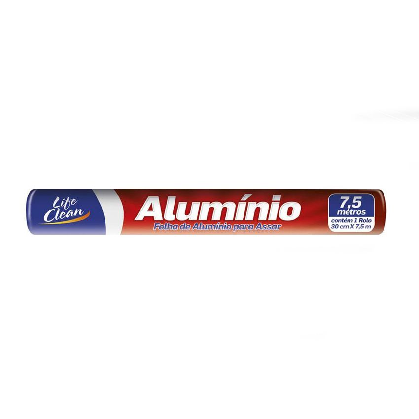 Papel Alumínio 30cm x 7,5m Life Clean