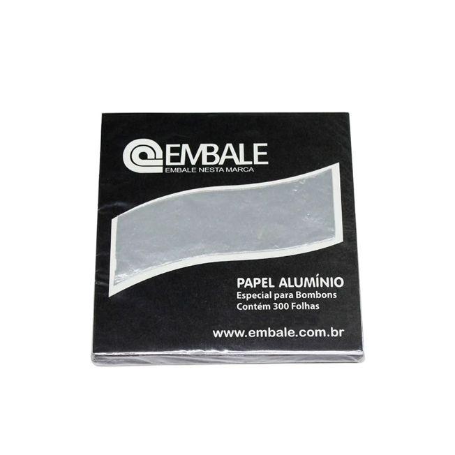 Papel Alumínio Prata 8x8cm 300 unid. Embale