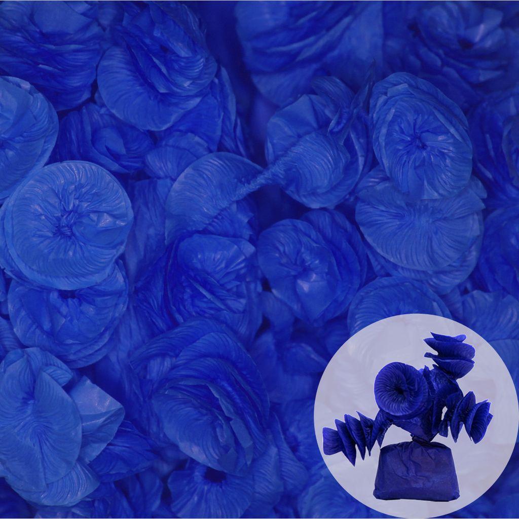 Papel de Bala Caracol  Azul Escuro 40 unid Real Seda