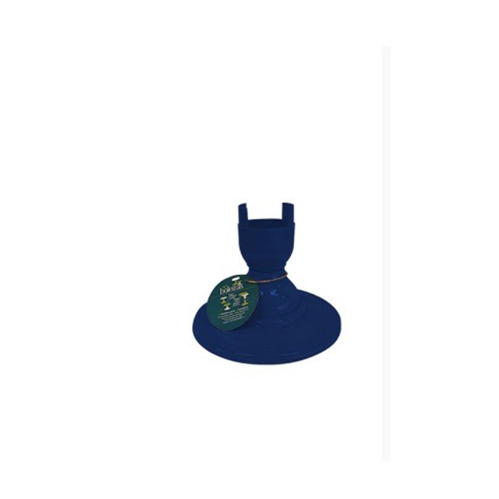 Pé Torneado 135mm Azul Marinho Só Boleiras