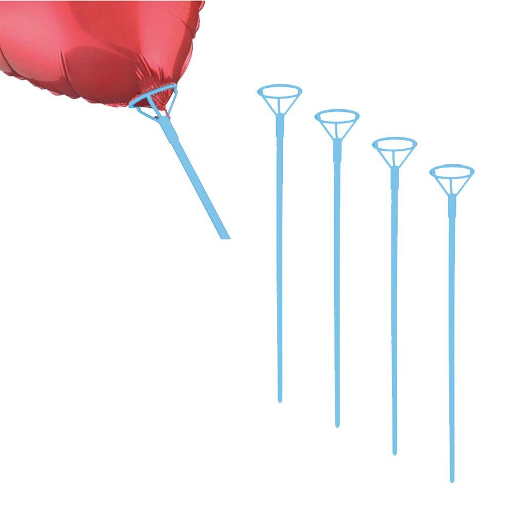 Pega Balão 50cm Azul Claro 5 unid KLF Festas