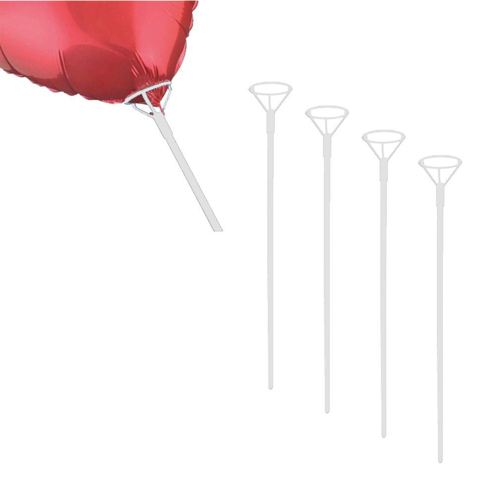 Pega Balão 50cm Branco 5 unid KLF Festas