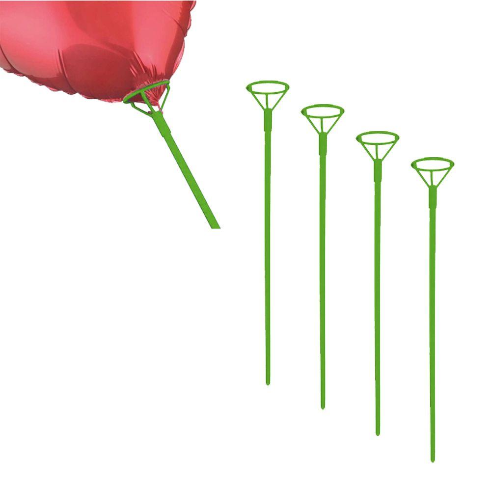 Pega Balão 50cm Verde 5 unid KLf Festas