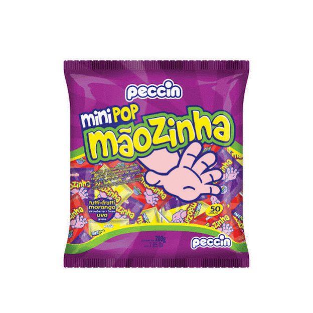 Pirulito Mini Pop Mãozinha Sortido 200g Peccin