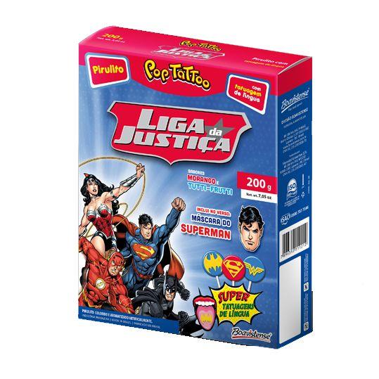 Pirulito Pop Tatoo Liga da Justiça Superman Sortido 40 unid Boavistense