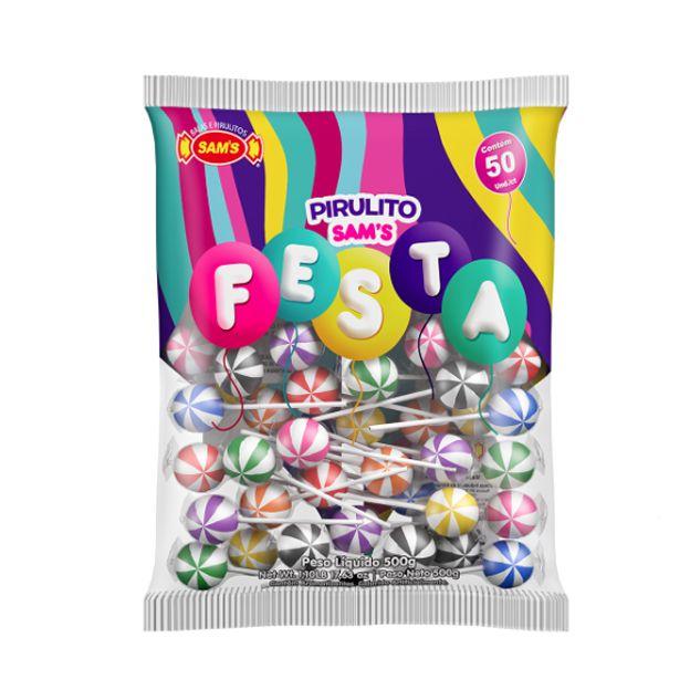 Pirulito Sam's Festa Mix 500g Sam's