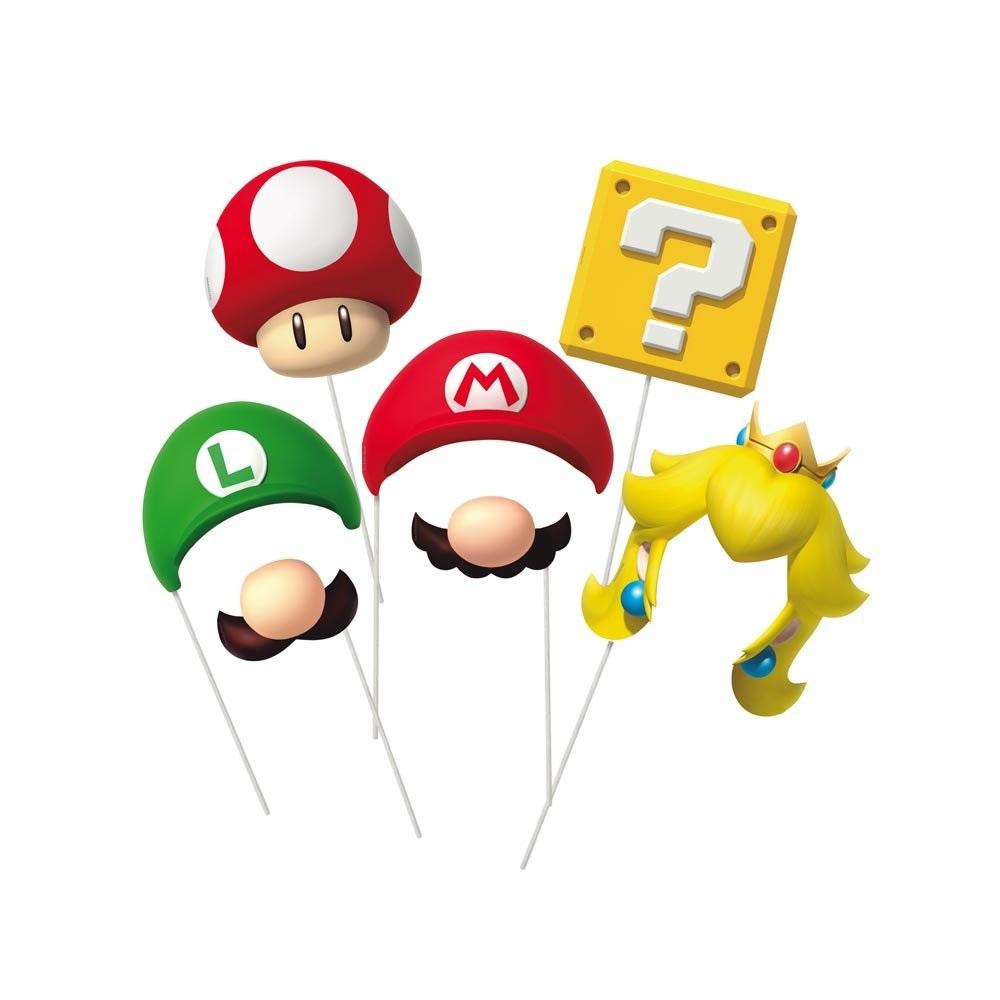 Plaquinhas Divertidas Super Mario c/8 unid Cromus