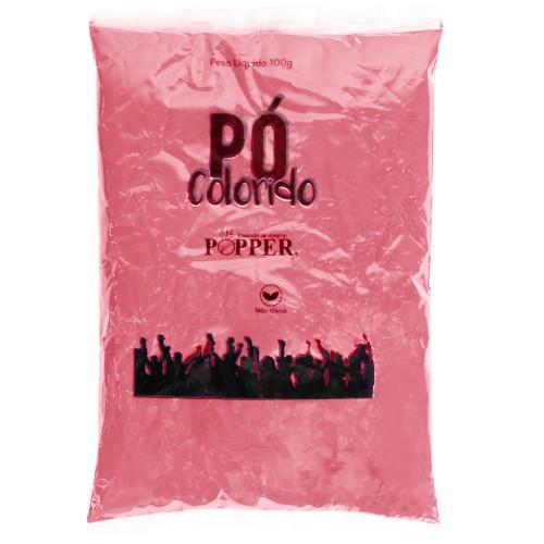 Pó Colorido Vermelho 100g Popper