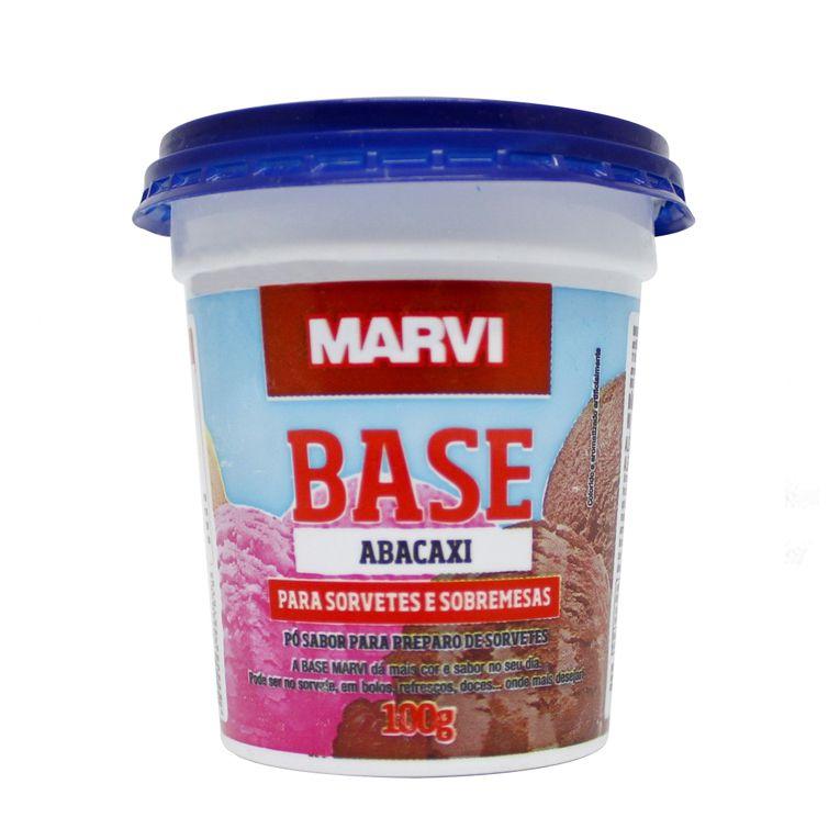 Pó para Sorvete Abacaxi Marvi 100g