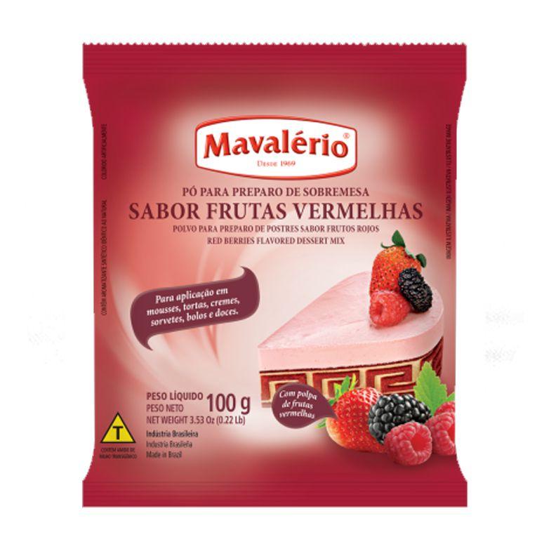 Pó Preparo de Sobremesa  Frutas Vermelhas Mavalério 100g