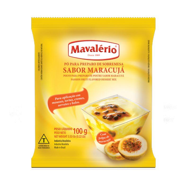 Pó preparo de Sobremesa  Maracujá Mavalério 100g